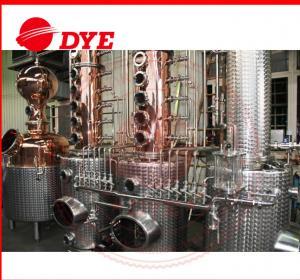 Quality 200L - 5000L Copper Distiller Apparatus , Whiskey Distillation Equipment for sale