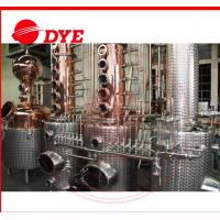 Quality Miniature Vodka Copper Distiller Machine With High Pressure Cean-In-Place system for sale