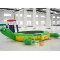 Quality Inflatable Tortoise Water Trampoline For Water Entertainment for sale