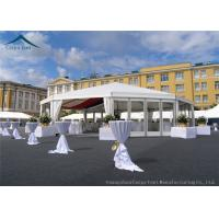 Quality Multi-Sided White Width 10m  Sunproof Marquee Tent PVC Fabric for sale