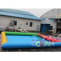 Quality 6 X 8m Inflatable Water Game Square Inflatable Swimming Pool For Amusement Park for sale