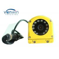 Quality Yellow Metal Waterproof CCTV Surveillance Camera CCD 700TVL Side View For Bus / Truck for sale