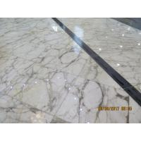 Quality Beautiful White Color Natural Marble Floor Tile 1.8 Cm Thickness Big Slab for sale