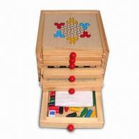 Quality Chess/Educational Toy, Made of Wood, Available in Six Games for sale