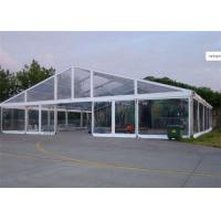 Quality Clear Cover Fabric Large Wedding Catering Tent With Round Tables , Chairs for sale