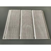 Quality Double Middle Groove 25cm Decorative PVC Panels With Wooden Printing for sale