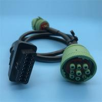 Professional Y Splitter Cable , Truck Diagnostic Cables PA66 OBD2 Connector