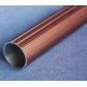 Round T6061 Anodized Aluminum Tube , Powder Spray Coated Brushed Aluminum Tubing for sale