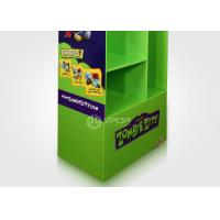 Green Eye Catching Cardboard Floor Displays With Different Size Shelf Toys