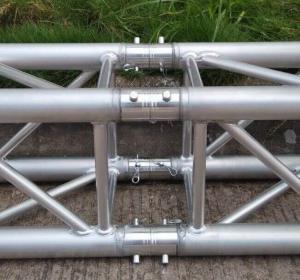 Quality Heavy Duty Aluminum Spigot Truss Silver / Black for Stage Truss for sale