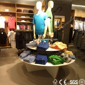 Quality High grade clothes shop display exhibitor gondola shelf for sale