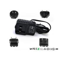 Quality 5V 1A 2A 12V 1A Detachable Plug Interchangeable Power Adapter CE FCC UL GS EAC Certificate for sale