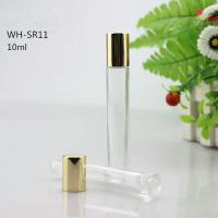Quality empty 10ml glass roll on bottle cosmetic essential oil container for sale