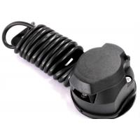 Quality Black 7 Way Trailer Electrical Plug Connecting Tow Vehicle To Semi Truck for sale