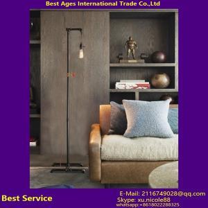 China Industrial Water Pipe Floor Lamp, Retro Metal Vintage Standing Lamp on sale