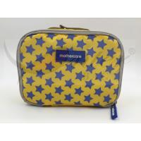 Quality 420D Printing Polyester Travel Cosmetic Bags Yellow Color Customized Logo for sale