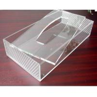 Quality Hot Sell Red Acrylic Tissue Box for Hotel for sale