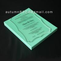 Quality B IC (3) romantic clear acrylic invitation for sale