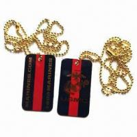 Quality Dog Tags, Made of Iron for sale