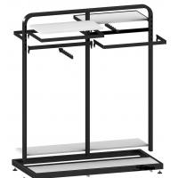 Quality Metal / Wood  Customized Color Display Rack Stand Garment Showrooms  600*500*1000mm for sale