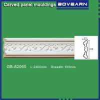 Buy cheap Polyurethane Carved Panel Mouldings/ Chair rails/ white primed color customized from wholesalers