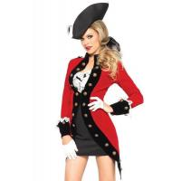 Quality Pirate Costumes Wholesale Sexy Red Coat Costume Wholesale from Manufacturer Directly carnival Costumes for sale