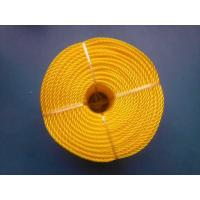 Quality 3 Strand High Strength PP Monofilament Twisted Rope For Packing , Yellow Color for sale