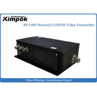 Quality 5W Long Range COFDM Wireless Audio Video Transmitter And Receiver System for sale