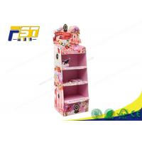 Quality Children Toy Cardboard Floor Displays Racks Customized Size Promotion Usage for sale