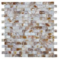 Quality Morden Luxury Mother Of Pearl Wall Tile , 3d Brick Custom Mosaic Tile for sale