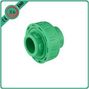 Quality Plastic Adapter PPR Union Polypropylene Random Hexagon Head Code White / Green Color for sale