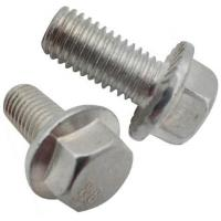Buy cheap DIN6921 Gr8.8 Hexagon Flange Head Bolts For Machine White Zinc Material from wholesalers