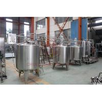 Quality Stainless Steel Beverage Mixer Carbonated Drink Production Line With Piston Filling System for sale