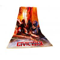 Quality Captain America Photo Beach Towel Civil War Pattern Non - Fade Water Based Prints for sale