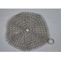 Quality Custom Pan Stainless Steel Chainmail Scrubber 10mm Outside Diameter , Eco Friendly for sale