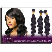 Buy Long Wavy Remy Brazilian Virgin Human Hair Extensions Natural Black at wholesale prices