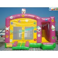 China Hello Kitty Rent Inflatable Bouncer Slide , Castle With Slide For Childrens on sale