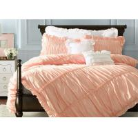 Quality Ruched Duvet Covers And Shams , Home 100 Cotton Bedding Sets Full 4 Pcs for sale