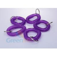 Quality Stretchable Purple Plastic Wrist Coil Bracelet 55 MM Fall Protection For Keys for sale