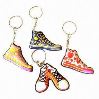 Quality Keychains, made of acrylic/plastic, various shapes and sizes are available, OEM orders are welcome for sale