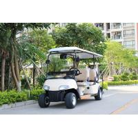 Quality CE Approval White Color 6 Passenger Golf Carts Electric Mini Car With 2 Reverse Seats for sale