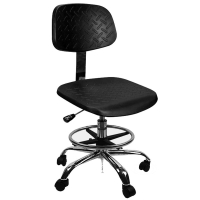 Quality 560mm Adjustable PU Leather Cleanroom ESD Chair 400*400mm for sale