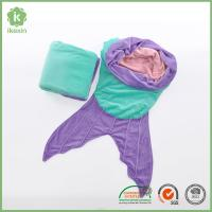 China All Season 56x20 Kids Super Soft Fleece Mermaid tail Sleeping Bag on sale