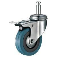 """Quality 3"""" Swivel Friction Grip Ring Stem Casters For Bussing And Utility Carts for sale"""