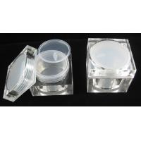 Quality High end 30gm  50gm 80gm plastic clear  cosmetic square acrylic jar for sale