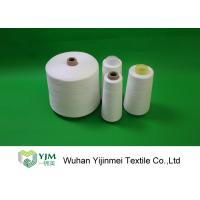 Quality 20/2 Non- Knot Z Twist Ring 100% Virgin PSF Spun Polyester Yarn Raw White for sale