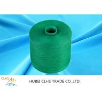 Quality Green Polyester Dyed Yarn 50 / 2 ,  Eco - Friendly Polyester Twisted Yarn Good Evenness for sale