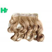 China Heat Friendly Natural Curly Hair Wigs Double Weft Clip In Hair Extensions on sale