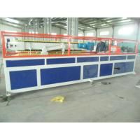 Quality PP / PE Deck Plastic Profile Extrusion Line , WPC Tray Profile Extrusion Machinery for sale