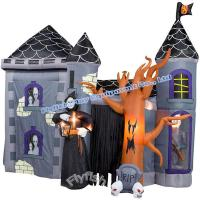 Quality halloween inflatable haunted house for sale